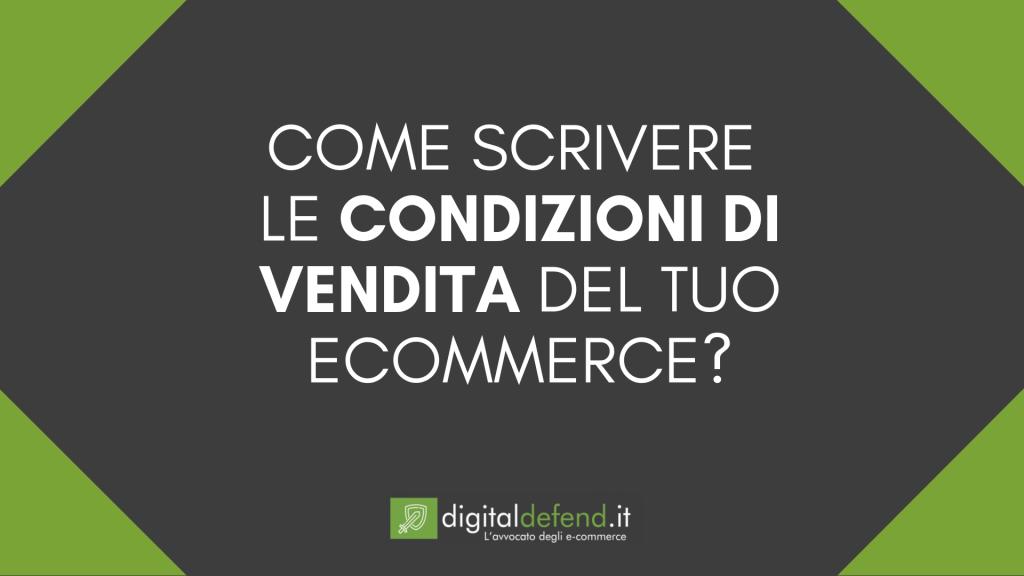 Condizioni generali di vendita e-commerce
